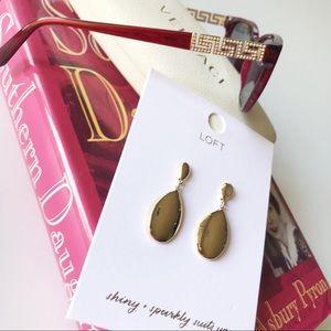 Teardrop Pierced Earrings Loft Goldtone Minimalist